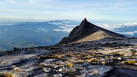 Mount Kinabalu at summit plateau Royalty Free Stock Image