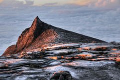 Mount Kinabalu. Sunrise at Mount Kinabalu`s South Peak Royalty Free Stock Photo