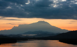 Mount Kinabalu at sunrise Stock Image