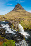 Mount Kirkjufell in Iceland Stock Photography