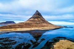 Mount Kirkjufell in the Snaefellsnes peninsula, near Grundarfjordur, Iceland royalty free stock photography