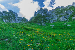 Mount. Kiso-Komagatake ,Central Alps,Nakano,Japan. Senjojiki cirque at the Central Japan Alps in summer Stock Photo