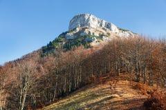 Mount Klak, autumnal view from Mala Fatra mountains Royalty Free Stock Photos
