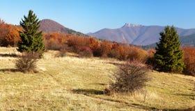 Mount Klak, Mala Fatra from Strazovske vrchy, Slovakia Stock Images