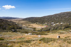 Mount Kosciuszko. The majestic view towards Mount Kosciuszko from Charlotte Pass lookout on a clear autumn day in New South Wales, Australia Royalty Free Stock Photos