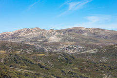 Mount Kosciuszko View. The majestic view towards Mount Kosciuszko from Charlotte Pass lookout on a clear autumn day in New South Wales, Australia Stock Image