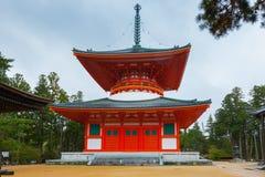 Mount Koya - The Great Stupa. UNESCO World Heritage Site - Konpon Daito Buddhist Stupa. Koyasan, Japan Stock Photos