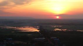 Cambodia. Mount Krom.  Siem Reap city.  Siem Reap province.  Sunrise at Mount Krom.