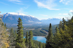 Mount Lady MacDonald and Grassi Lakes Stock Image