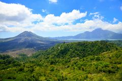 Mount and lake Batur Stock Image