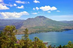 Mount and lake Batur Stock Photos