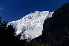Mount Lamjung Himal 6983m Royalty Free Stock Photography