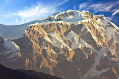 Mount Lamjung Himal at Dawn, Nepal Royalty Free Stock Photos