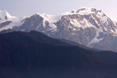 Mount Lamjung Himal at Dusk, Nepal. Image of Mount Lamjung Himal on the Dhaulagiri-Annapurna-Manaslu Himalayan Mountain Range, Nepal, taken at dusk stock photos