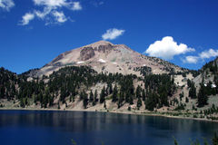 Mount Lassen. During the summer. Lassen Volcanic National Park, California.  is still considered an active volcano Stock Photos
