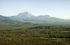 Mount Lassen in July Afternoon Stock Photo