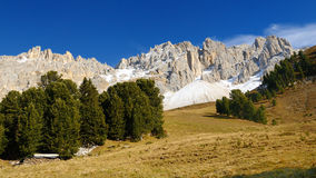 Mount Latemar in the Alps, Italy Stock Photography