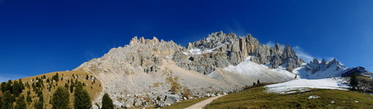Mount Latemar in the Alps, Italy Royalty Free Stock Photos