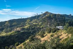 Mount Lee in Los Angeles, near the Hollywood sign royalty free stock photo