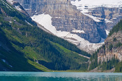 Mount lefroy,mount victoria, lake louise Royalty Free Stock Photography