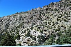 Mount Lemmon, Tucson, Arizona, United States. Scenic landscape view with vegetation of Mount Lemmon located in Tucson, Arizona in the United States Stock Photos