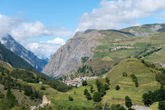 Mount Les Terrasses and city of La Grave (France) Royalty Free Stock Photography