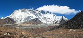 Mount Lhotse and Nuptse South rock face royalty free stock photo