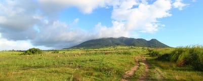 Mount Liamuiga in Saint Kitts Stock Photo