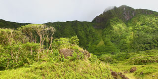 Mount Liamuiga on Saint Kitts Royalty Free Stock Photos