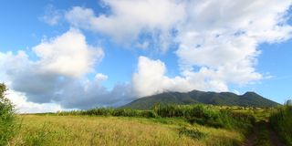 Mount Liamuiga in Saint Kitts Royalty Free Stock Image