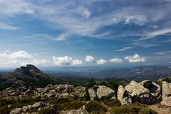 Mount Limbara Sardenia, Italy - national park view. In summer time royalty free stock image