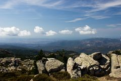 Mount Limbara Sardenia, Italy - national park view. In summer time stock image