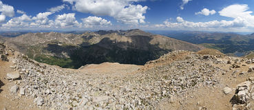 Mount Lincoln Summit Panorama Stock Photography