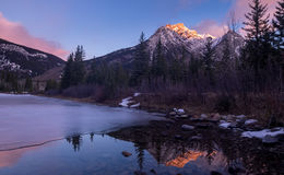 Mount Lorette Ponds in Kananaskis Country royalty free stock photo