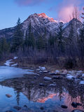 Mount Lorette Ponds in Kananaskis Country Stock Photos