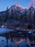 Mount Lorette Ponds in Kananaskis Country Royalty Free Stock Image