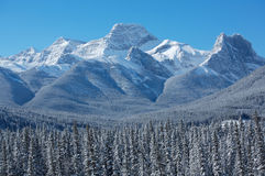 Mount Lougheed. Near Canmore in the Canadian Rockies Royalty Free Stock Images