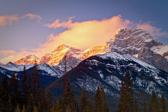 Mount Lougheed in Kananaskis near Canmore, Alberta Stock Photos