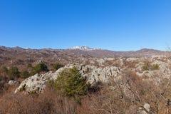 Mount Lovcen in Lovcen national park near Cetinje, Montenegro Royalty Free Stock Images