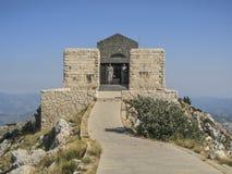 Mount lovcen, montenegro, europe, mausoleum of the prince-bishop petar II petrovic njegos. View entrance to the mausoleum of the prince-bishop petar II petrovic Royalty Free Stock Image