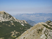 Mount lovcen, montenegro, europe, view. Overall view of the park of mount lovcen Royalty Free Stock Image