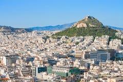 Mount Lycabettus, Афины, Греция Стоковое фото RF