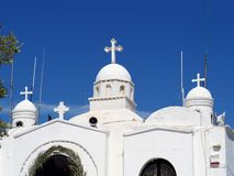 Detail of the Chapel of St. George, Mount Lycabettus, Athens, Greece royalty free stock photography