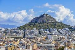 Mount Lycabettus Aten Arkivfoton