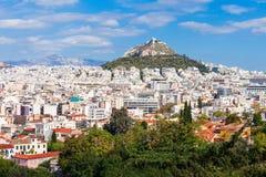 Mount Lycabettus in Athens Stock Image