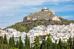 Mount Lycabettus in Athens Royalty Free Stock Photography