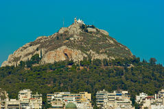 Mount Lycabettus Athens Greece. An image of Mount Lycabettus in Athens Greece Royalty Free Stock Images