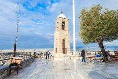 Mount Lycabettus in Athens Stock Photography