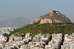Mount Lycabettus Royalty Free Stock Photography