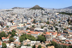 Mount Lycabettus view Royalty Free Stock Images
